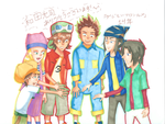 Digimon Frontier 14th anniversary by Whitewolfgirl