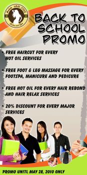 Hairzone Promo mock up design by legriv