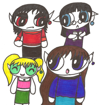 Ppg My Four Sisters by DarkRavenrulz