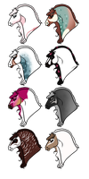 PeaFries - Female Group 1 by Mishranna