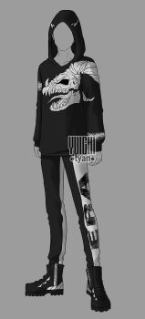 [Closed] Auction BW Outfit male 18 by YuiChi-tyan