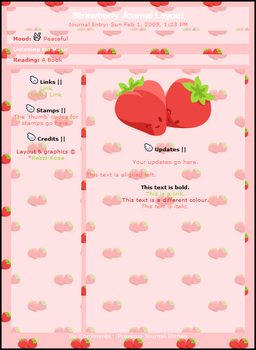 Strawberry CSS Journal Layout by cssdesigns