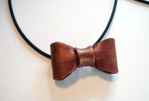 Doctor Who Bow Tie Pendant by spaceraptor
