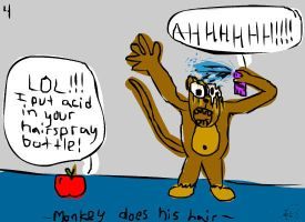 Monkey Does His Hair by smosh