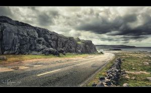On the road to the Cliffs by Pajunen