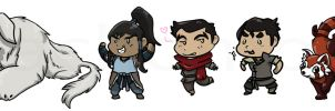 Legend of Korra - chibis by Cachomon