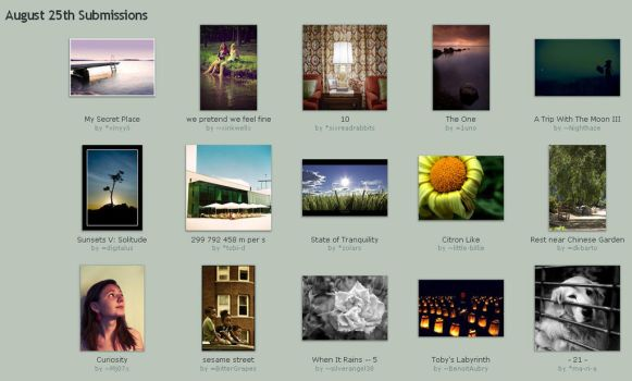 August 25th Submissions by Optimal-Photo
