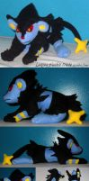Luxray plushie trade by Neon-Juma