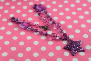Purple Starburst Necklace by PeppermintPuff