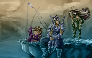 Ninjas Gone Fishing by Elagune