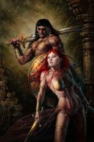 Conan and Red Sonja by Michael-C-Hayes
