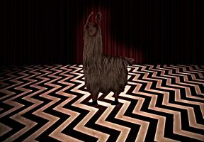 Red room llama by PsychedelicOctopuss
