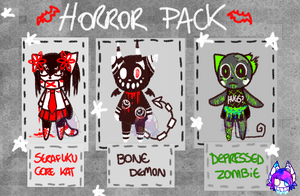 H0RR0R PACK!! 2 by CATGUTTS