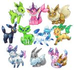 Shiny Eevolution Stickers -FOR SALE by Kikulina