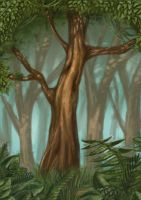 a tree in the forest by cury