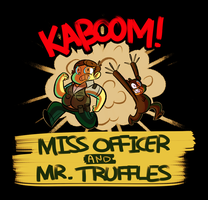 Miss Officer and Mr. Truffles by GusDraws