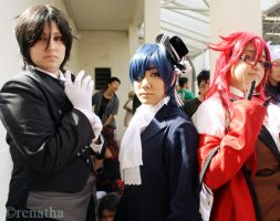 Sebastian, Ciel and Grell by ritalinXD
