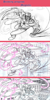 Magneto - drawing progress by the-ChooK