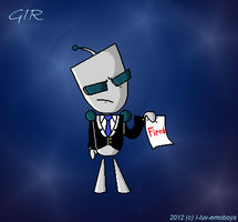 Gir in a suit by I-Luv-Emoboys