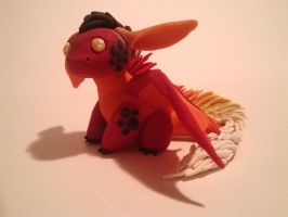Baby Magma Dragon by DragonLindy