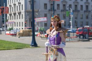 Princess Zelda Holding Court in San Francisco by Stormfalcon