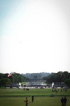 Lincoln Memorial Across the Reflecting Pool by TimeWillDefineUs
