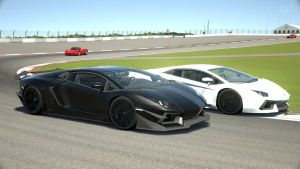 2 Aventador Ying and Yang by NightmareRacer85