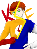 Kid flash is Wally West by young-rain