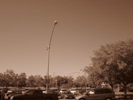21st Century Sepia: Lightpost by cillanoodle