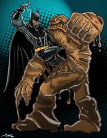 Batman vs Clayface by geogant