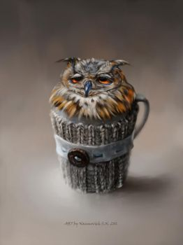 owl Cup by Animal75Artist