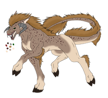 Female Cloven Hound Adoptable 2 - SOLD by ShadowInkAdopts