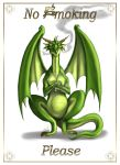 No smoking dragon Print by Destinyfall