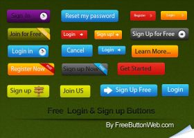Free Login Sign up Buttons by button-finder