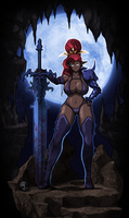 Morganna, Queen of the Dark Elves by Blazbaros