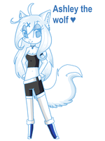 Ashley the wolf by skuIIy