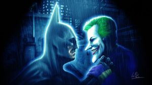 Batman and Joker by MrWills