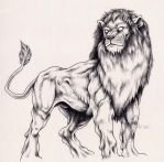 Lion for Emelie by Ribera