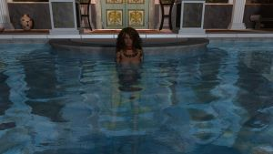 Francesca Frigo taking dip in the pool 2015-03-15 by WOW-Creations
