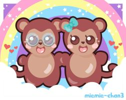 Rainbow Monkeys by miemie-chan3