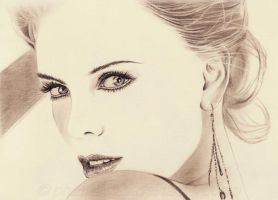 Charlize Theron minimal by phantastes