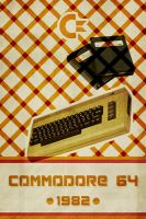 Commodore 64 - Retro Poster by Euskera