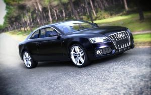 audi a5 coupe render by teamgandaia3