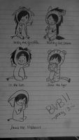 Drawing. Black veil brides. by DinoBunneh