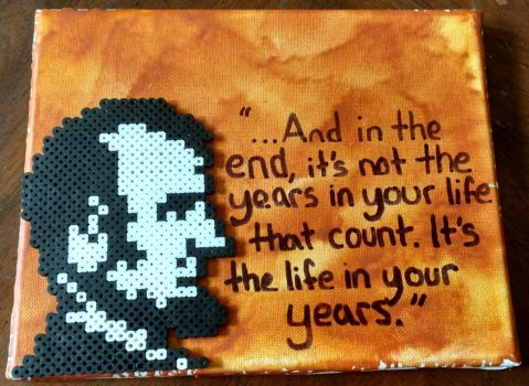 Abe Lincoln with quote by manicperlerbeads