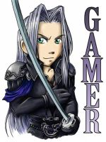 Sephiroth Badge by ScuttlebuttInk