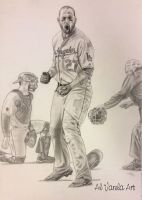 Dodgers Matt Kemp Beast Mode by AlVarelaArt