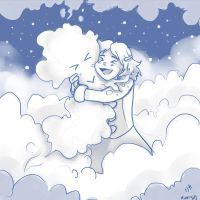 Hug With A Cloud!!! by MiamoryHJ