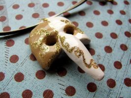 Plague Doctor Mask Necklace by Stripedy