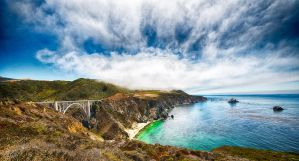 Big Sur, Bixby Bridge pano by alierturk